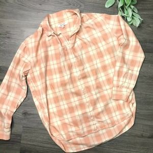MADEWELL | XS Central shirt in pink danville plaid